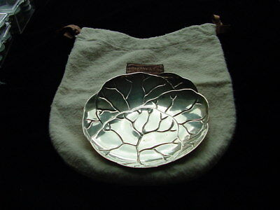 Superb & Early Tiffany Sterling Plate. Leaf Pattern. Just Beautiful & Perfect.