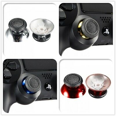 2x Analog Thumbstick Joystick Stick Cap for PS4 Slim Pro Controller Chrome Color