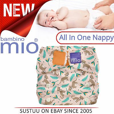 Bambino Mio Miosolo All In One Nappy Wild Cat│Water Resistant│Adjustable Poppers