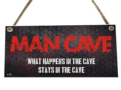 Man Cave Quote Wooden Novelty Plaque Sign Gift fcp47