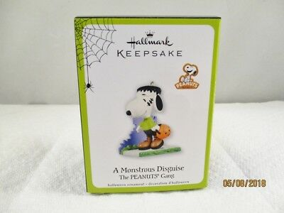 Halloween 2011 A MONSTROUS DISGUISE  SNOOPY as Frankenstein Halloween Ornament
