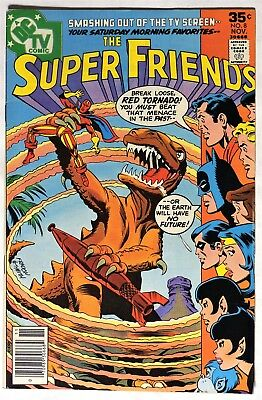 S117. SUPER FRIENDS #8 by DC Comics 5.5 FN- (1977) 1st App. of JACK O'LANTERN ;