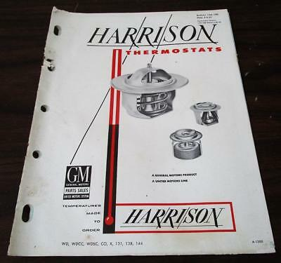 Vintage 1957 GM Harrison Thermostats 19 Pg Price Catalog H