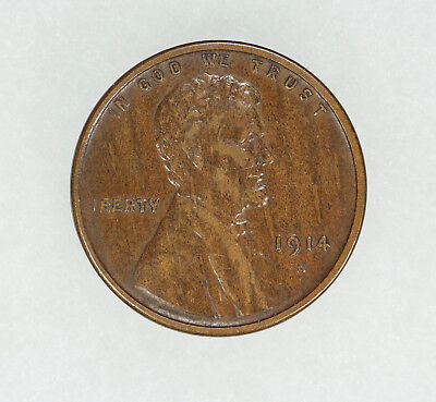 1914 S Lincoln Wheat Cent Penny 1C Xf Extra Fine Au About Uncirculated (5611)