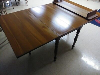 Antique Solid Cherry Drop Leaf Table with 1 leaf