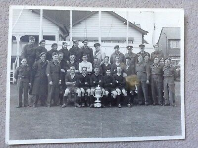Rare Large Original Photograph of an Army Football Team with Trophy - Birmingham