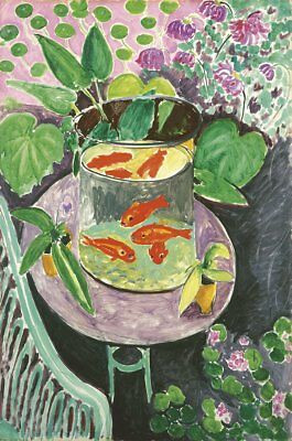Goldfish by Henri Matisse Art Print Fish Bowl on Table Poster 13x19