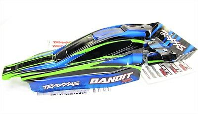 Bandit VXL BODY shell & Wing (Blue & Green) painted Shell Traxxas XL-5 24076-3