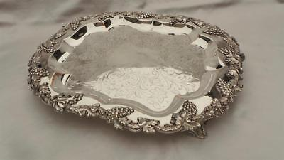 Magnificent Old Sheffield Plate Silver Rectangular Wine Or Drinks Serving Tray