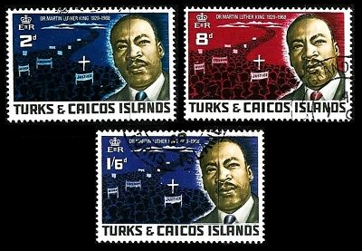TURKS & CAICOS Isl. 1968: Martin Luther King; kpl. ° (G219)