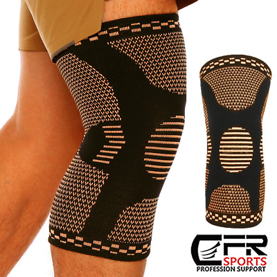 2 X Knee Sleeve Compression Brace Copper Support For Sports Joint Pain Arthritis