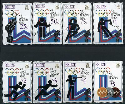 Belize MiNr. 443-50 postfrisch/ MNH Olympiade 1980 Lake Placid (Oly87