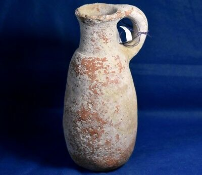 Holy Land Judaea Iron Age III Circa 7cen BC Terracotta Clay Juglet, Temple Times
