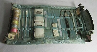 Antique Mother of Pearl Sewing Set Mother of Pearl Handles Cataragus sissors USA