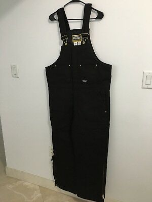 Walls Workwear Black Insulated Bib Overalls Size Large