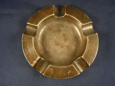 Antique/vintage solid silver ashtray stamped and hallmarked Birmingham 1922