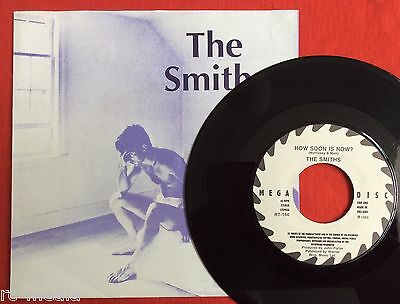 """THE SMITHS -How Soon Is Now- Rare Dutch 7"""" in Lilac """"William"""" sleeve on MEGADISC"""