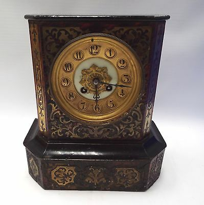Vintage FRENCH MANTLE CLOCK With Pendulum And Keys - SPARES/REPAIRS - N40