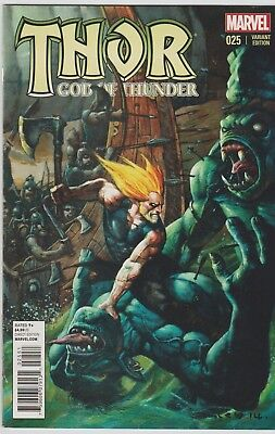 THOR GOD OF THUNDER # 25  VARIANT COVER EDITION NOV. 2014 in 9.0