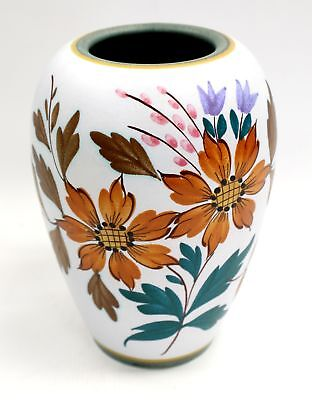 "Vintage GOUDA HOLLAND ""Flora"" Decorative Pottery Vase - W13"