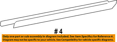 TOYOTA OEM Rear Door Window Sweep-Belt Molding Weatherstrip Left 681640C020