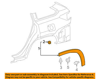 TOYOTA OEM 14-15 Highlander Fender-Wheel Flare Molding Left 750880E010