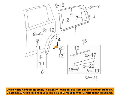 TOYOTA OEM 14-18 Highlander Exterior-Rear-Stone Guard Right 757470E010