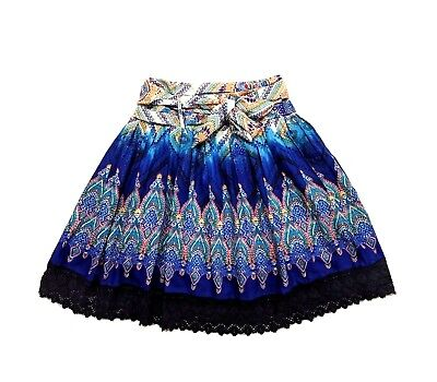 ebb248dabd Lucky & Coco Boho Bohemian Hippie Peasant Womens Flare Tie Skirt Size Large