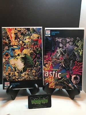 FANTASTIC FOUR SET Issues 1&2  ARTHUR ADAMS CONNECTING VARIANT NM