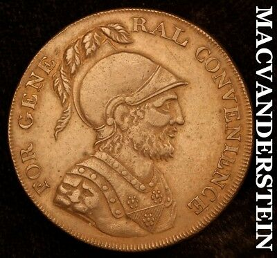 Great Britain: 1795 Half Penny Conder- For General Convenience !! Au+ !! #b8243