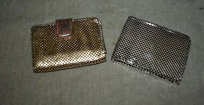 Vintage Pair Of Whiting & Davis Beaded Wallets – Purses - Folding Wallet