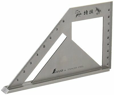 Shinwa Stainless Steel Ruler Stop Type Machinist Square 62081 Japan