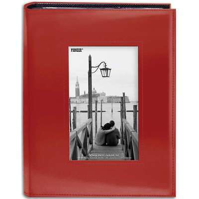 "Pioneer Sewn Frame Photo Album 7""X9""   Red 023602642607"