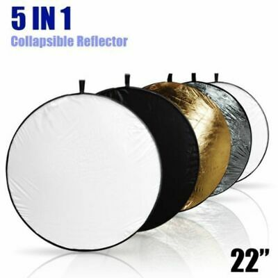 """LimoStudio 5-in-1 Photo Studio Collapsible 22"""" Light Reflector Disc Panel AGG806"""