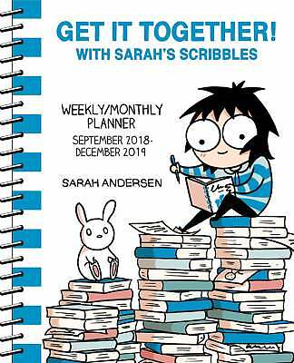 Get It Together With Sarah Scribbles A5 Diary 2018-2019 Art Week To View