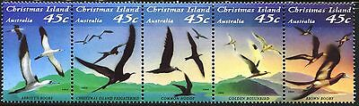 1993 Christmas Island Seabirds - Se-tenant Strip Set MUH