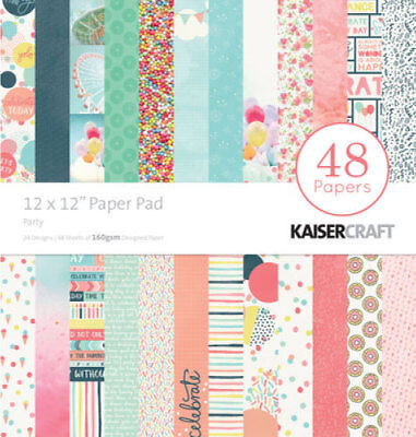 "*A&B* KAISERCRAFT Scrapbooking Paper Pads - Party - PP239 - 12"" *CLEARANCE*"