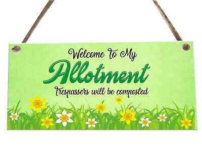 Allotment Garden Quote Funny Wooden Novelty Plaque Sign Gift fcp53