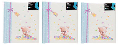 3 x  Baby Photo Album Baby Self Adhesive Photograph Album 10 Sheets/20 sides