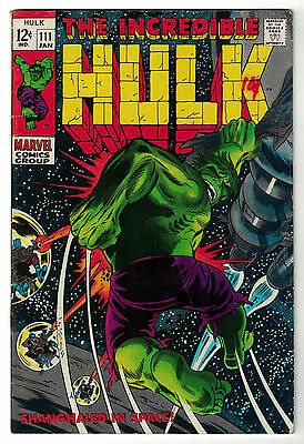 Marvel Comics THE INCREDIBLE HULK Issue 111 Shanghaied In Space! VG+