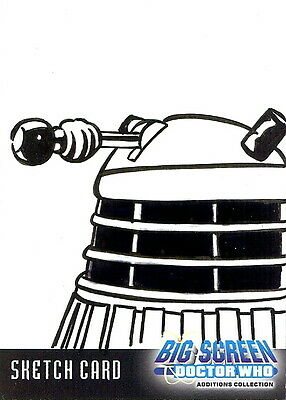 Dr Doctor Who Big Screen Additions Sketch Card of a Dalek by Kevin Graham /1