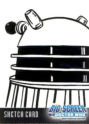 Dr Doctor Who Big Screen Additions Sketch Card of a Dalek by Kevin Graham /3
