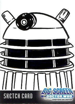 Dr Doctor Who Big Screen Additions Sketch Card of a Dalek by Kevin Graham /4