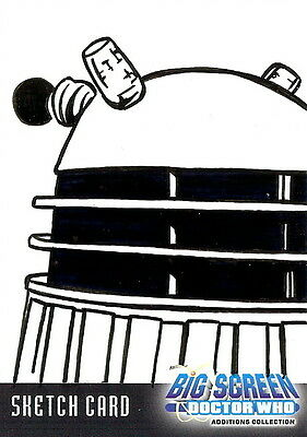 Dr Doctor Who Big Screen Additions Sketch Card of a Dalek by Kevin Graham /5
