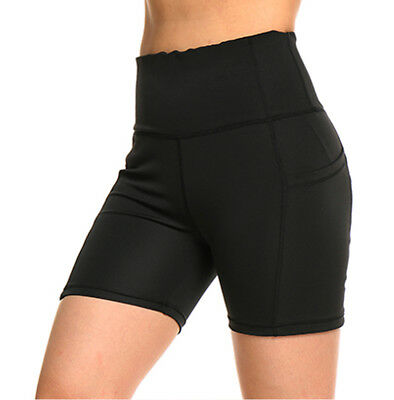 Womens Summer High Waist Spandex Biker Fitness Yoga Leggings Bermuda Shorts M822