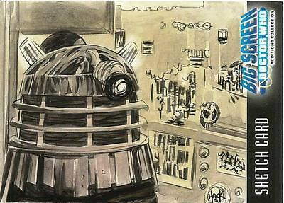 Dr Doctor Who Big Screen Additions Sketch Card by Robert Hack of a Dalek