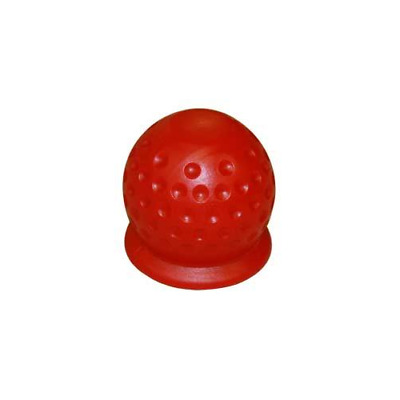 50mm Tow Ball Cover Cap Tow Hitch Caravan Trailer Towball Protecter RED