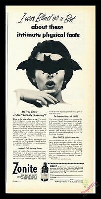 Print Ad~1953~Zonite~Douching~Antiseptic~Douche~Germicide~I300