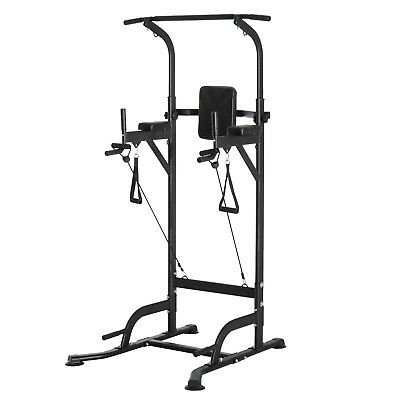 HOMCOM  Station de Traction Musculation Multifonction Chaise Romaine 120 kg
