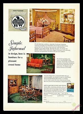 Print Ad~1953~Heywood Wakefield~Old Colony~Furniture~Home~Casual~I300